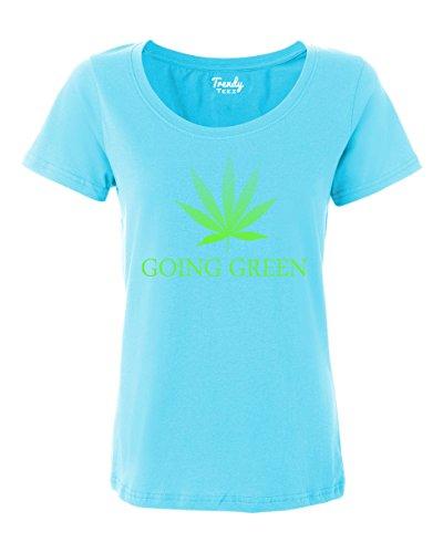 Trendy-Teez-Going-Green-Weed-Leaf-Marijuana-Pot-womens-T-Shirts-carribbean-XL