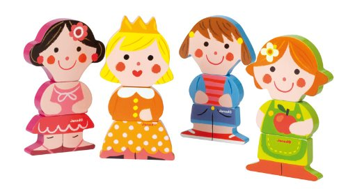 janod  j wooden	toy, dolls