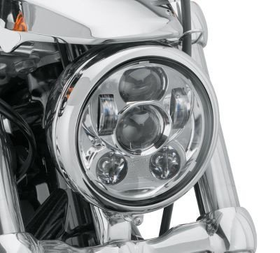 """Wiipro Silver 5-3/4"""" Motorcycle Projector Daymaker LED Headlight for Harley Dyna Wide Glide FXDWG Headlamp Driving Light Headlamp"""