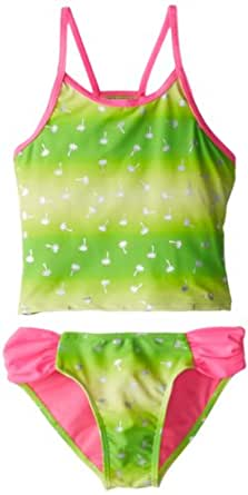 Laguna Big Girls'  Summer Bliss Tankini, Pop Lime, 14