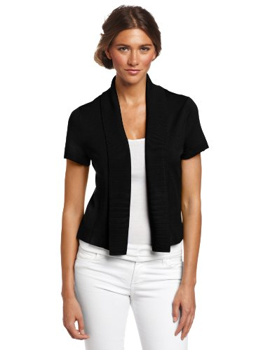 Chaus Women's Cap Sleeve Fold Back Shrug