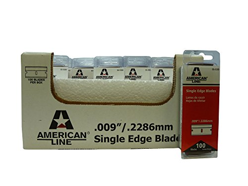 "American Line 66-0089CS Single Edge Blades, Aluminum Back, 0.009"" Carbon, Duro Edge (Pack of 2500)"