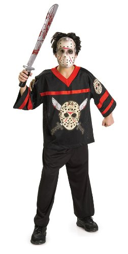 Friday the 13th Child's Jason Hockey Jersey and Mask Costume, Large