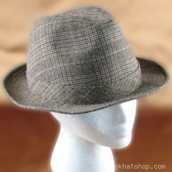 WOOL, PLAID TWEED FEDORA TRILBY HAT * BROWN with SATIN LINING - Large / Extra Large - Buy WOOL, PLAID TWEED FEDORA TRILBY HAT * BROWN with SATIN LINING - Large / Extra Large - Purchase WOOL, PLAID TWEED FEDORA TRILBY HAT * BROWN with SATIN LINING - Large / Extra Large (UIB, UIB Hats, Womens UIB Hats, Apparel, Departments, Accessories, Women's Accessories, Hats, Womens Structured Hats)
