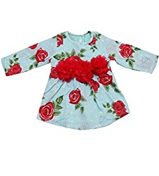Dchica Roses and Leaves Full Sleeves Party Frock (Limited Stock Offer Buy any of the Clothes Of D'chica and get a