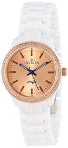 Invicta Women's 14908 Ceramics Rose Gold Dial White Ceramic Watch