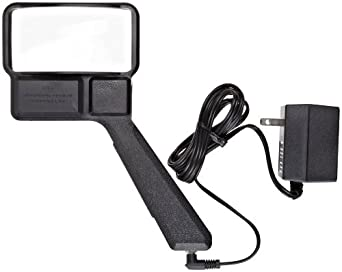 "Donegan C-610 Classic Rectangular Illuminated Hand Held Magnifier, 2.125X Magnification, 9"" Focal Length, 2"" x 4"" Lens"