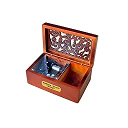 Laxury Creative Engraved Wooden 18-note Wind-up Musical Box,Musicl Toys,Tune:Fur Elise