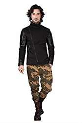 DheerajSharma Black Cross Zip Jacket-S