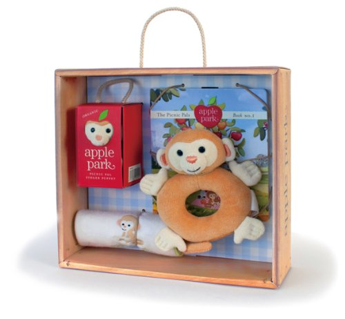Apple Park Baby Gift Crate, Monkey