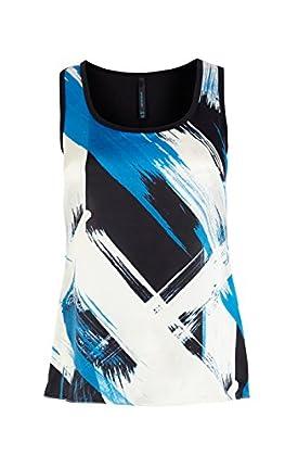 Printed silk front vest