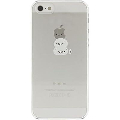 SoftBank au iPhone 5 専用 Applus キャラクター ハード クリア iPhone5 ケース カバー (白ショボーン)
