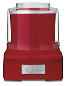 Cuisinart ICE-21R Frozen Yogurt-Ice Cream & Sorbet Maker, Red