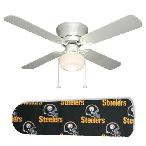 New Image Concepts 2105 52 in. Ceiling Fan with Lamp - Pittsburgh Steelers at Amazon.com