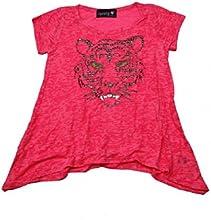 Sparkly Pink Shark Bite quotTigerquot Design TeesT-Shirts