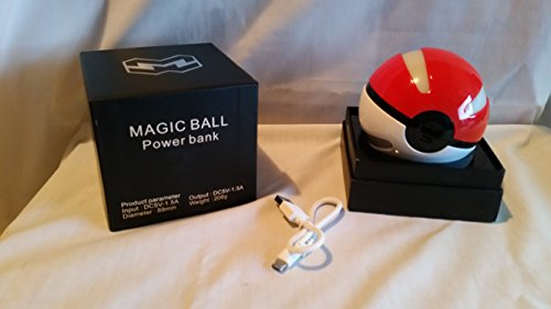 Esna Pokemon GOPower Bank Pokemon GO For Use With Pokémon GO power bankNEW Arrivals Action Figures Go Ball Power Bank 10000mAh Chager With LED Light For Go AR Games ...