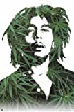 Bob Marley (Pot Leaves) Music Poster Print - 24x36