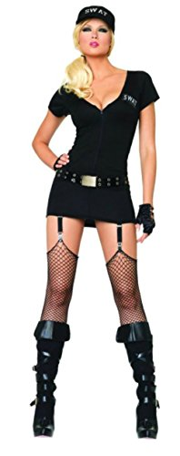 Leg Avenue Womens Swat Lady Commander Police Outfit Fancy Dress Sexy Costume