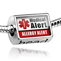 "Neonblond Beads Medical Alert Red ""Allergy Alert"" - Fits Pandora Charm Bracelet by NEONBLOND Jewelry & Accessories"