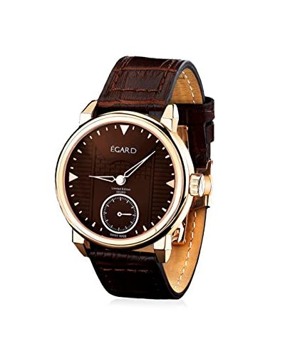 Egard Men's GRD-ADO-ROS Adoro Brown Stainless Steel and Leather Watch