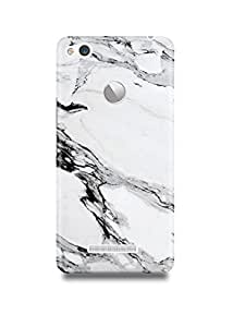 White & Black Marble Xiaomi Redmi 3s Prime Case-124