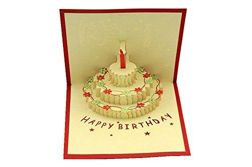 ® Handmade 3D Pop Up Birthday Cards Creative Greeting Cards ...