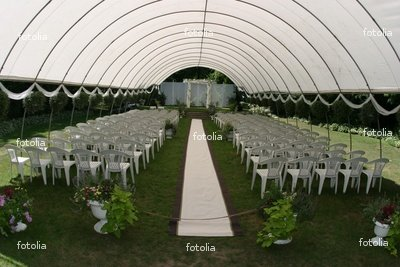 """Wallmonkeys Peel and Stick Wall Graphic - Outdoor Wedding Ceremony Tent Chair Elegant - 24""""W x 16""""H"""