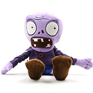 Plants vs Zombies Style Plush Purple Zombies Toys Doll Toys Pillows Made of Polypropylene - 28cm by Colorful Sunshine