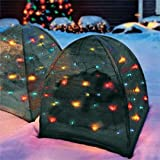 DECORATIVE OUTDOOR CHRISTMAS LIGHTS BUSH COVER WITH 50 LED LIGHTS