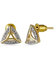 Sia Art Jewellery Stud Earrings For Women (Golden) (AZ2600)