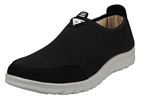 iLoveSIA Men's Comfort Walking Slip-on Casual Loafer Shoes Black US Size 8.5