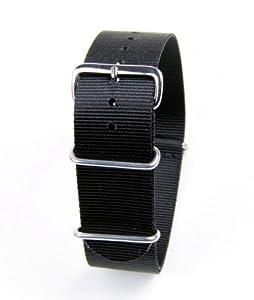 Minott Uhrenbänder HG-2086522S - Correa para reloj, tela, color negro de Minott Uhrenbänder