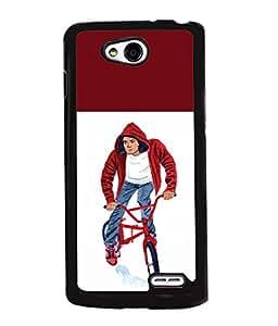 Printvisa 2D Printed Boy Designer back case cover for LG L90 - D4314