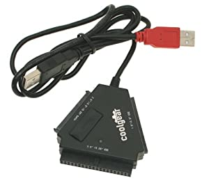 "CoolGear® SATA/IDE Hard Drive 2.5"" 3.5"" 5.25"" HDD and Optical Drive USB Adapter"