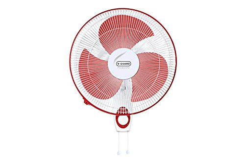 Vguard Finesta STD 400mm Wall Mounting Fan (Red White)