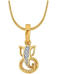 Myzevar 18K Yellow Gold And Diamond Diamante Ganesha Pendant