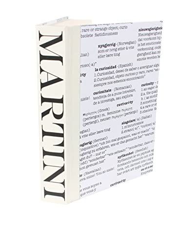 Image Collect Martini Curiosity Covered Book, Black/Cream