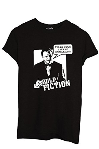 T-Shirt I'M MR WOLF I SOLVE PROBLEMS PULP FICTION - FILM by iMage Dress Your Style - Donna-XL-NERA
