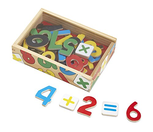 Melissa & Doug Magnetic Wooden Numbers in a Box