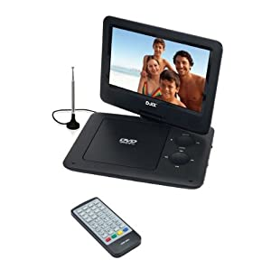 """Lecteur DVD portable D-jix PVS 902-95LHD TNT  écran rotatif 9 """"  USB  carte SD  Xvid Lecteur Tuner TNT"""