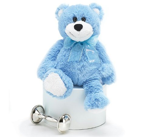 Pat-A-Cake Plush Blue Bear - 1