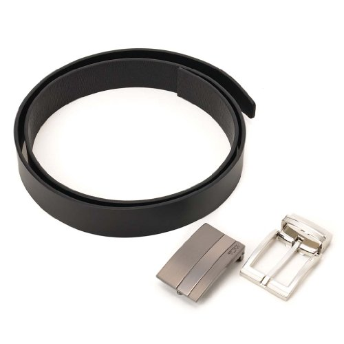 (トゥミ)TUMI 9372-17 2バックル ベルトセット メンズ 革ベルト ブラック [並行輸入品]