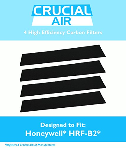 4 High Efficiency Replacement Honeywell Carbon Filters Fit most Honeywell towers & tabletops, HHT-08X, HHT-090, HPA-X50, HHT-X55, HHT-14X, HHT-01X, HHT-100, HHT-1500, HHT-080, HHT-081, HHT-085, HPA060, HPA160 HPA-050, HPA-150, HHT-145, HHT-149, HHT-013, HHT-011, 16200 & Vicks V9070, V9071, Compare to Part # HRF-B2, Designed & Engineered by Crucial Air
