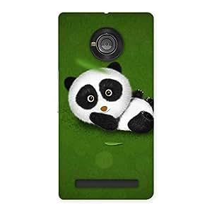 Panda Green Grass Back Case Cover for Yu Yunique