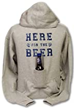 Beer Hoodie Sweatshirt with Beer Pouch - Here for the Beer