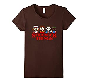 Women's STRANGER OF THINGS Tee T-Shirt Medium Brown