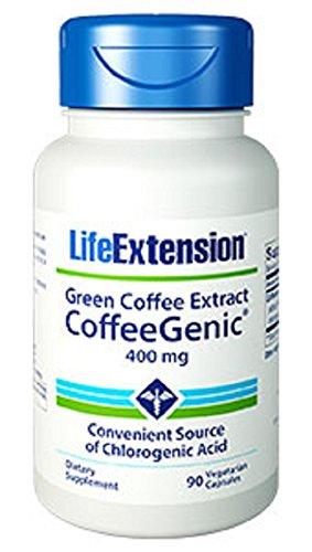 CoffeeGenic Green Coffee Extract 400 mg - 90 - VegCap (Green Coffee Bean Extract 400 compare prices)