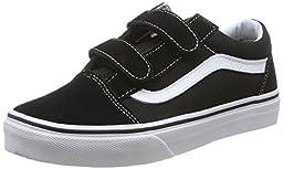 Vans Children\'s Old Skool V,Black/True White,US 3.5 M