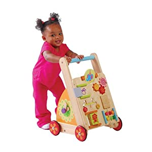 Amazon.com: Solid Wood Activity Walker Toy For Toddlers ...