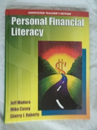 Personal Financial Literacy, Annotated Teacher's Edition